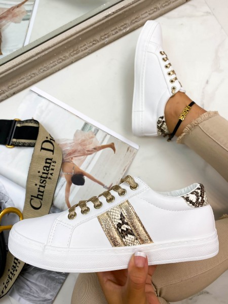 SNEAKERS DETAILS SNAKE & GOLD