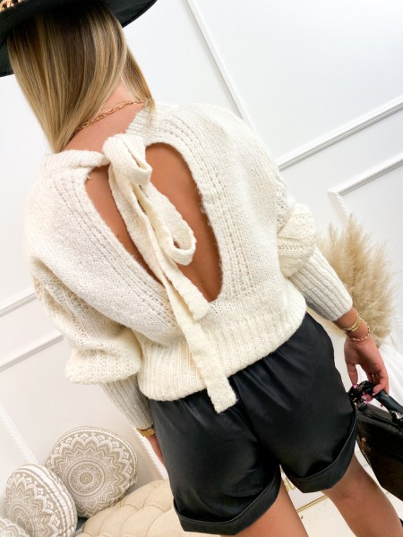 PULL GROSSE MAILLE OPENBACK...