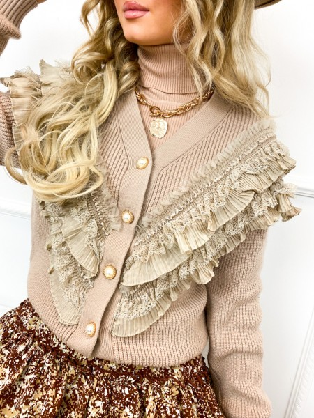 GILET FALL VIBES TAUPE