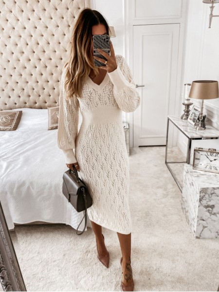 MAXI ROBE PULL MAILLE...