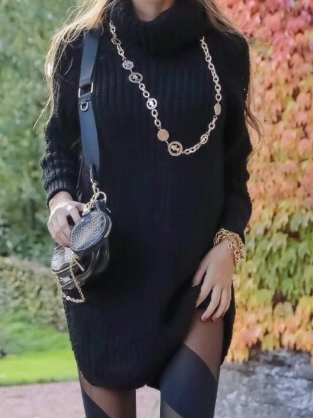 ROBE PULL COL MONTANT &...