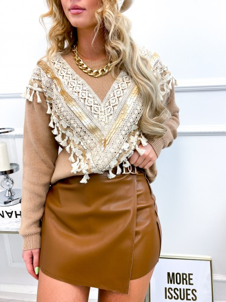 PULL WINTER COLLECTION CAMEL