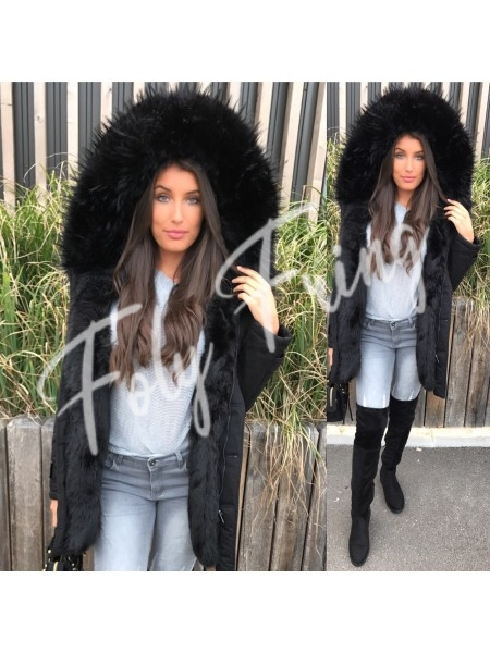 *** PARKA MAXI FOURRURE FULL BLACK***