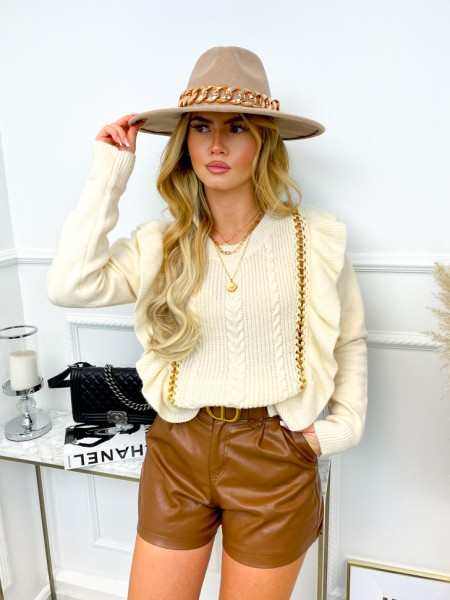 PULL VOLANTS  & CHAINES NUDE