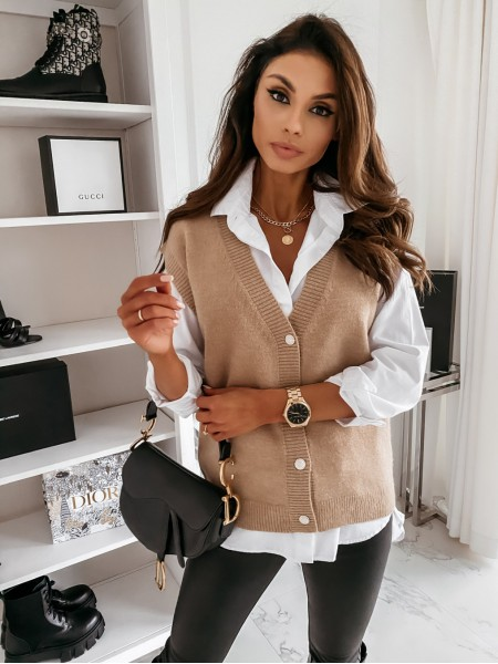 GILET BUTTONS PEARLS &...