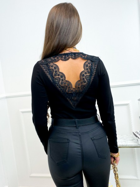BODY BACKLESS & GUIPURE BLACK