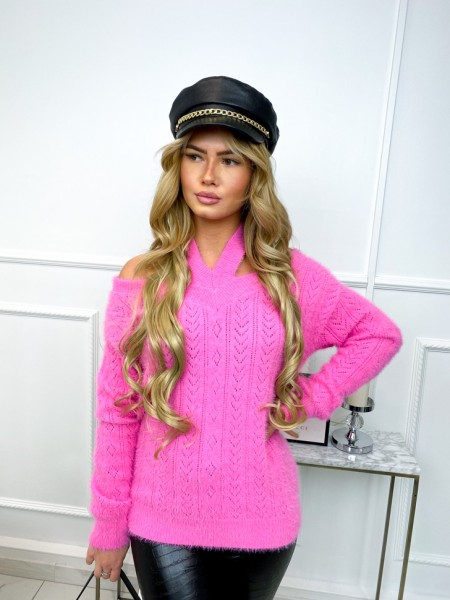 PULL DOUDOU AJOURE PINK