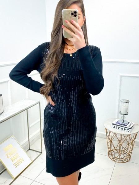 ROBE PULL SEQUINS BLACK