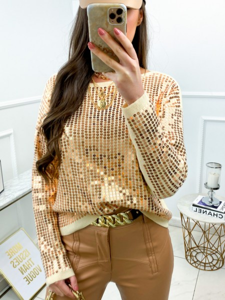 PULL MAILLE FINE & SEQUINS...