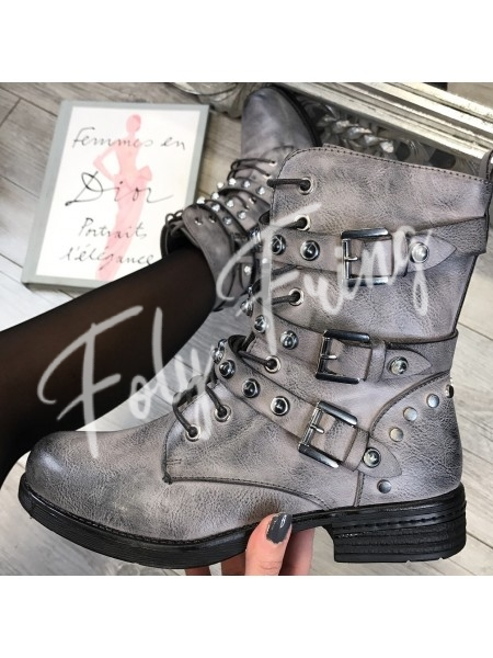 *** BOOTS PERLES MUST HAVE FASHIONISTA GREY***