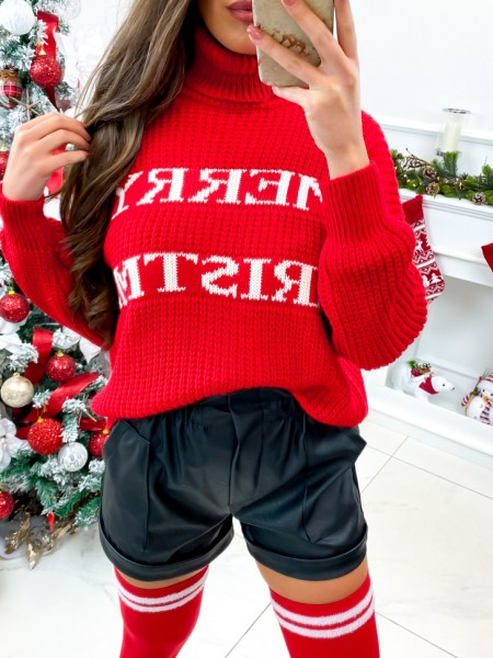 PULL GROSSE MAILLE MERRY...