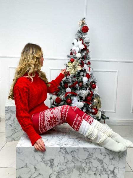 LEGGING CHRISTMAS EDITION RED