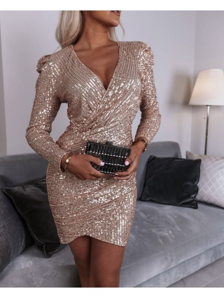 ROBE CACHE COEUR & SEQUINS...
