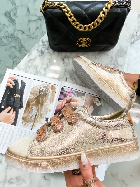 SNEAKERS DETAILS SNAKE GOLD