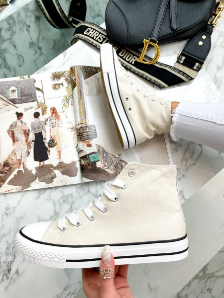 SNEAKERS MONTANTES NUDE
