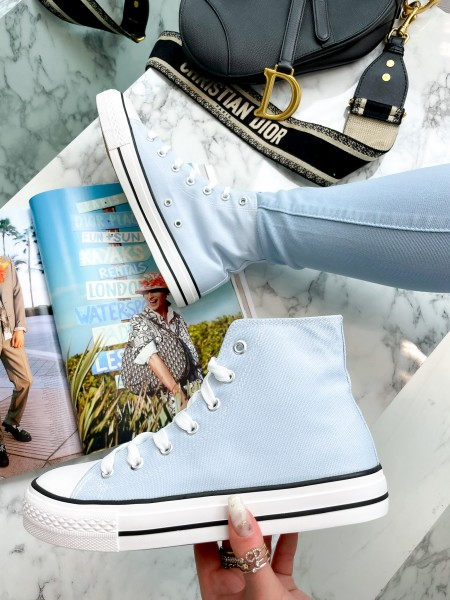 SNEAKERS MONTANTES LIGHT BLUE