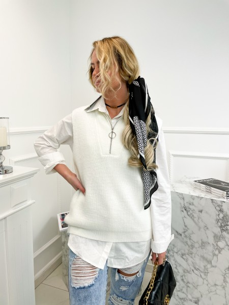 PULL MUST HAVE ZIP WHITE