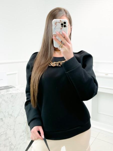SWEAT MAXI CHAINE  BLACK