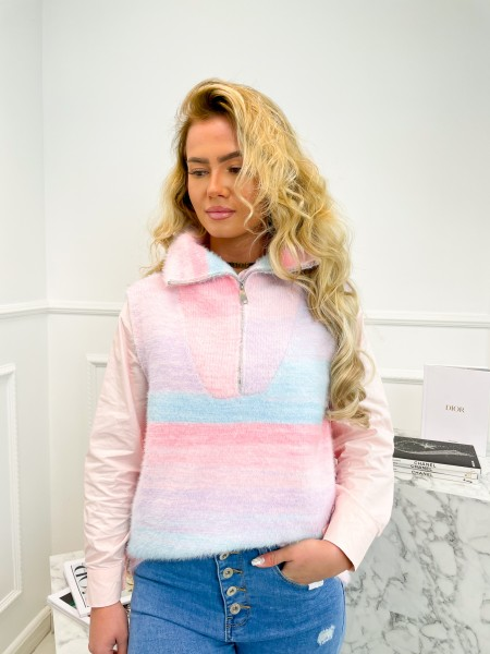 PULL MUST HAVE ZIP BLUE & PINK