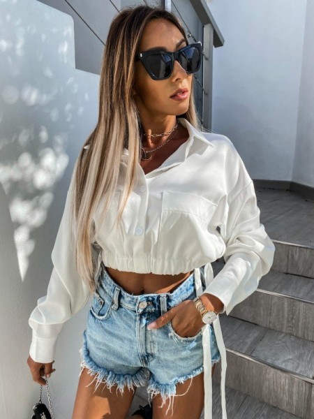 BLOUSE CROPPED LACAGE &...
