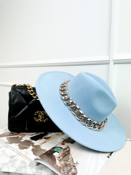 FEDORA MAXI CHAINE  LIGHT BLUE