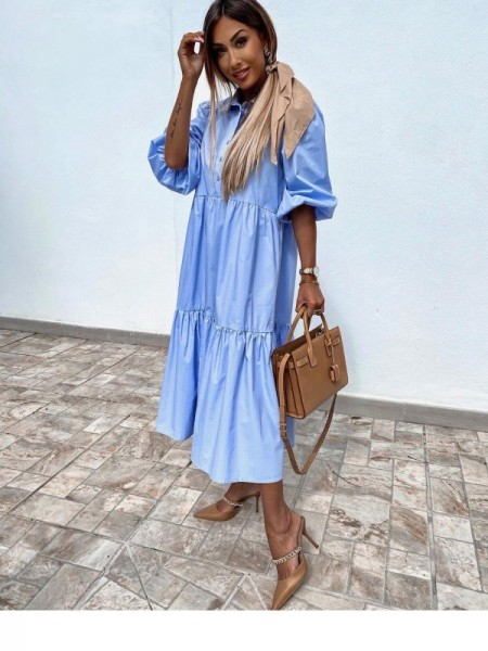 MAXI ROBE CHEMISE MANCHES...
