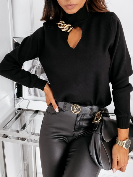 PULL CROPPED COL MONTANT &...