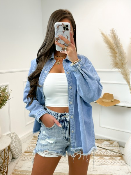 CHEMISE JEANS OVERSISE &...