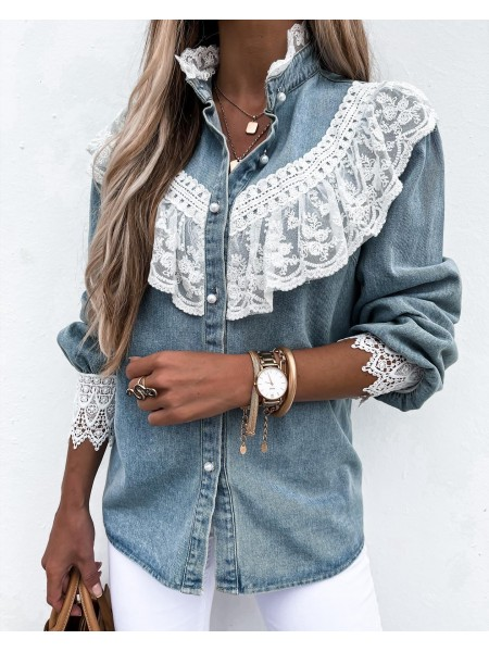 CHEMISE JEANS PEARLS &...