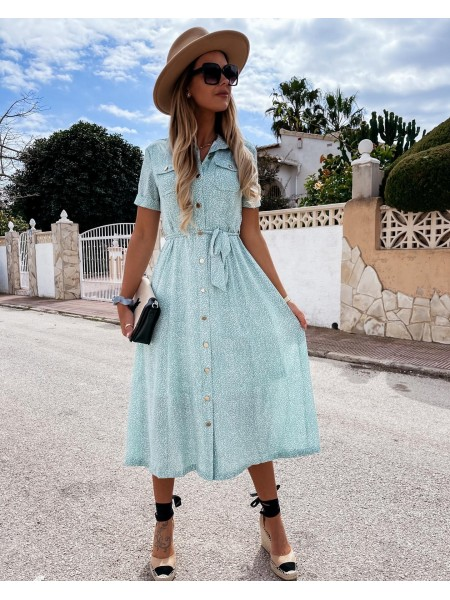 MAXI ROBE POCHES & BUTTONS...