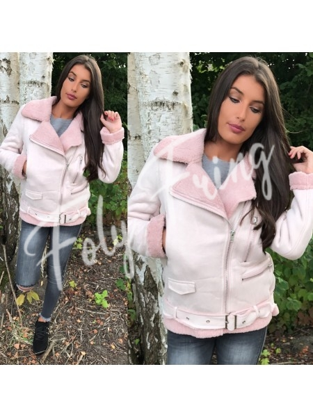 *** MANTEAU AVIATOR PREMIUM ROSE TENDRE ***