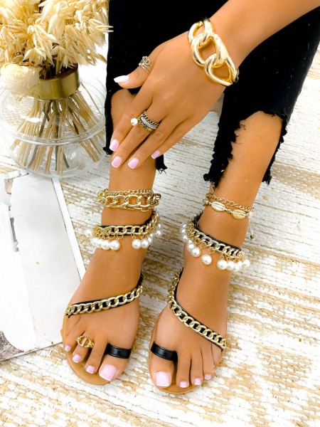 SANDALES CHAINES & PEARLS...