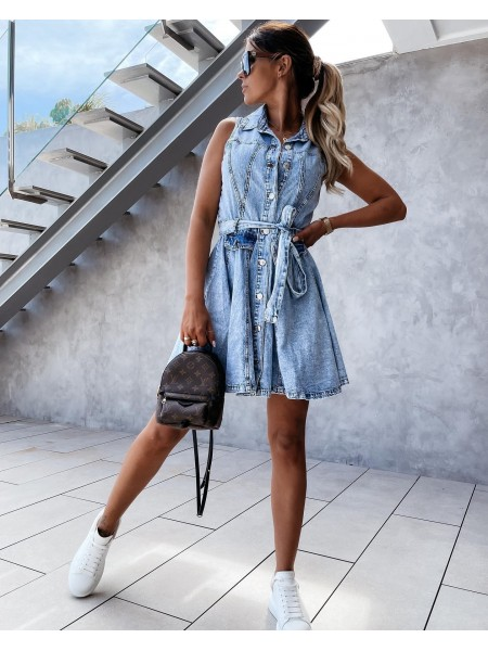 ROBE JEAN BUTTONS &...