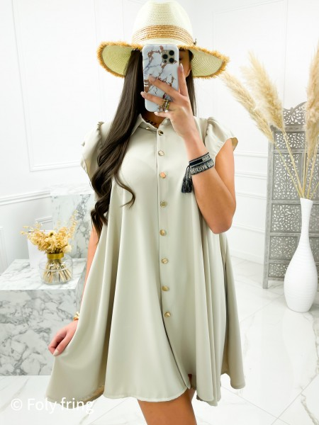 ROBE CHEMISE FLUIDE MANCHES...