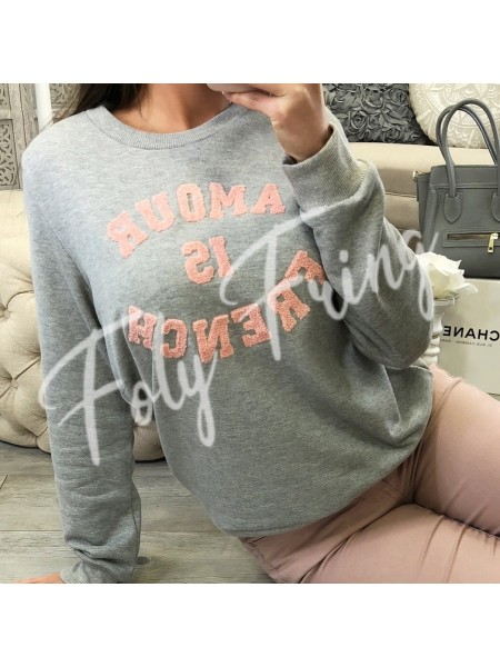 *** SWEAT AMOUR IS FRENCH GREY***
