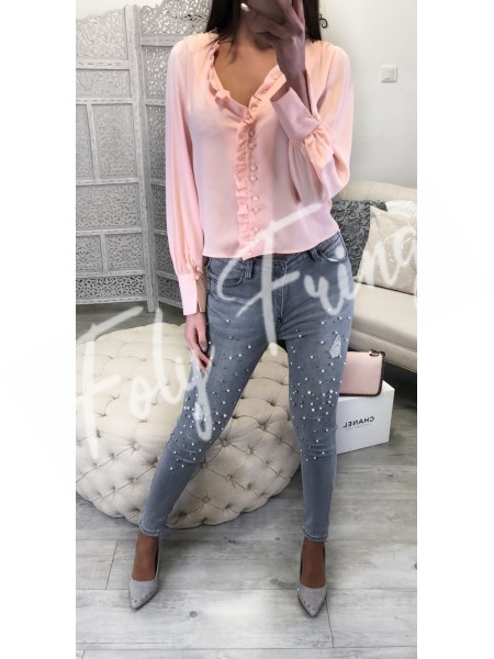 *** BLOUSE GIRLY CHIC PINK***