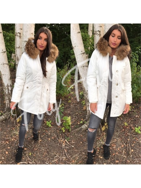 ****PARKA MAXI FOURRURE WHITE SNOW****