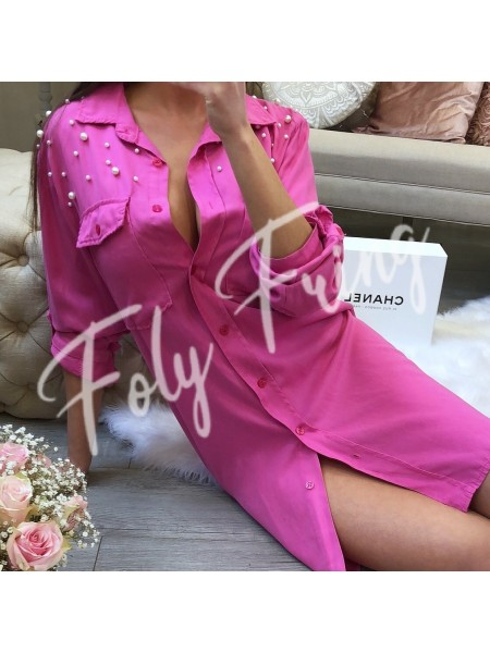 ROBE CHEMISE PERLES  ****EXCLUSIVE COLLECTION****