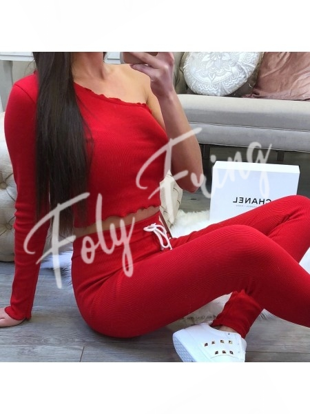 *** ENSEMBLE JOGGING MOLLETON FASHIONISTA RED ***