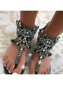 ***SANDALES DIAMONDS BLACK***