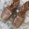 ***ESPADRILLES MILLE & UNE NUITS ROSE GOLD ***