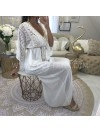 *** MAXI ROBE DENTELLE & MOUSSELINE WHITE ***