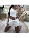 *** ENSEMBLE TOP & SHORT WHITE ***