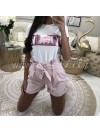*** T-SHIRT VOGUE WHITE & PINK***