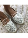 ***ESPADRILLES FLOWERS WHITE ***