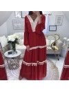 *** MAXI ROBE MOUSSELINE DE SOIE RED***