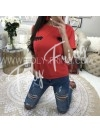 *** T-SHIRT FASHIONISTA RED***