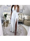 *** MAXI ROBE WHITE AVEC SHORT INTEGRE***