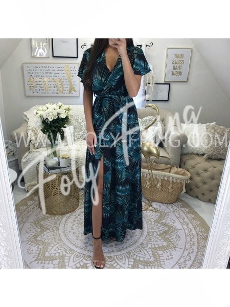 *** MAXI ROBE PALMIERS BLACK ***
