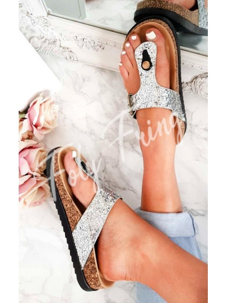 *** MULES SEQUINS SILVER***